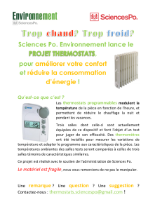 Affiche thermostats