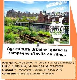 Affiche Conf Agri Urbaine